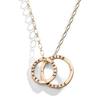 Celebrian Stacking Ring Necklace - Long Version