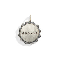 Solana Double Sided Personalized Medallion with Sterling Silver Rim.