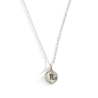 Rosebud Tiny Initial Necklace