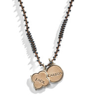 Vivica Beaded Personalized Necklace with Golden Bronze Insert