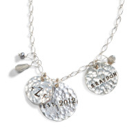 Bewitched Silver Hand Stamped Necklace