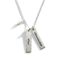 Copione Script Engraved Necklace