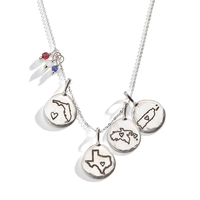 US State Charm in Sterling Silver