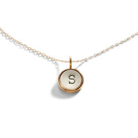Super Small Initial Disc Necklace