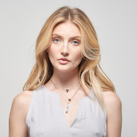 Jacques Triangle Initial Necklace