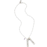 Eve Silver Rectangular Tag Name Necklace