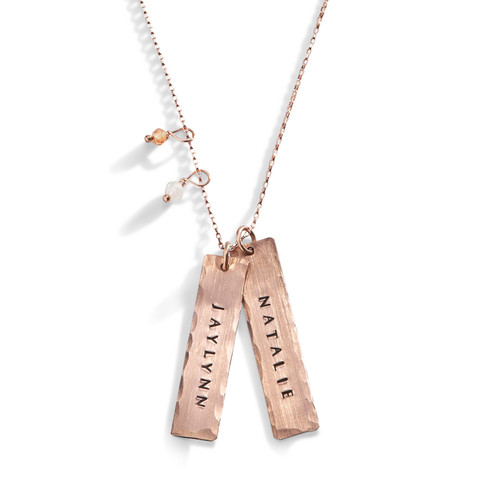 Enchantress Rose Gold Personalized Necklace