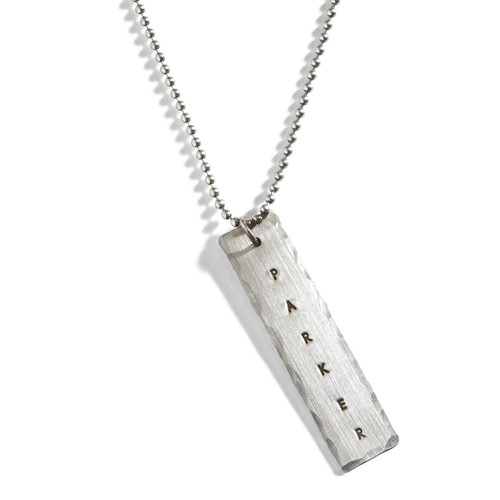 The Man Tag Silver Dog Tag Necklace