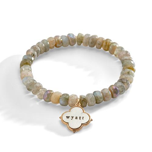 Snowdrop Labradorite Personalized Bracelet
