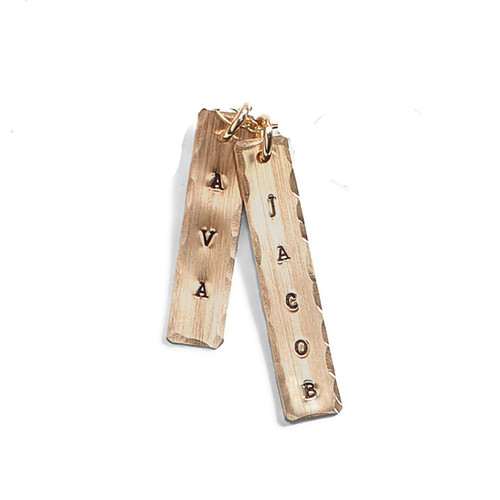Wide Personalized Rectangle Charm - A La Carte Charm