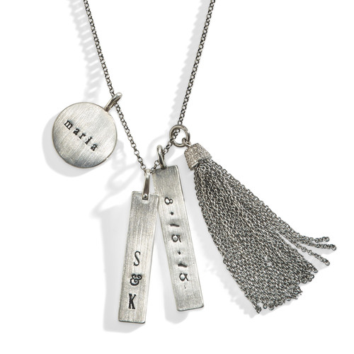 Diamond Tassel Personalized Necklace