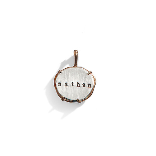 Caged Metal Personalized Charm  - A La Carte Charm