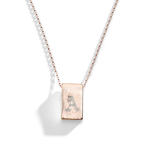 Laguna Olde English Initial Bar Necklace