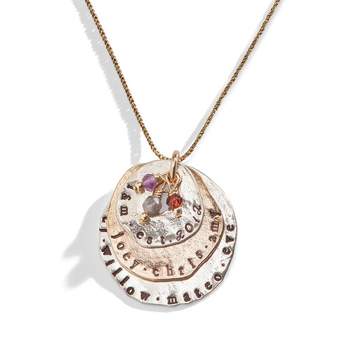 Triple Stacked Personalized Charm Necklace