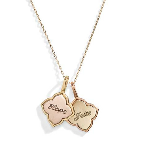14K Gold Celeste Personalized Charm Necklace