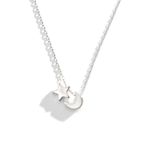 Tiny Love Moon Star Layering Necklace
