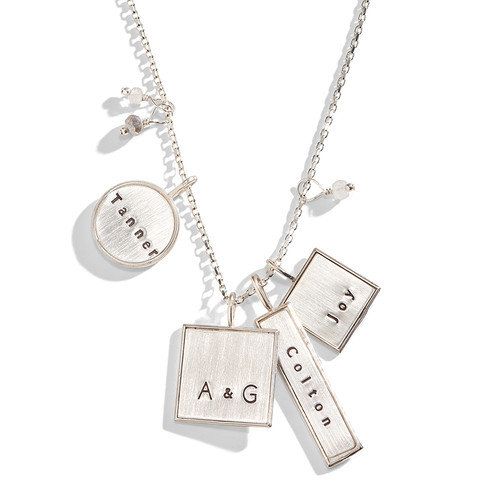 Valley Girl Mixed Shape Personalized Necklace