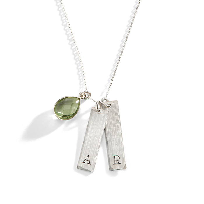 Brigitte Modern Initial Necklace in Sterling Silver.