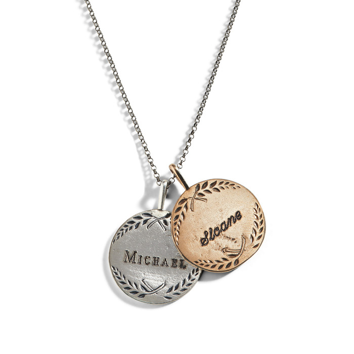Love Token Number 9 Engraved Charm Necklace