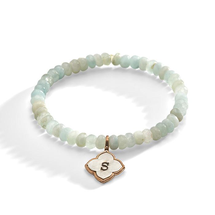 Larkspur Aquamarine Personalized Bracelet