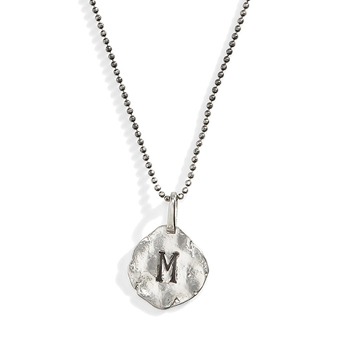 Greenwich Distressed Initial Necklace