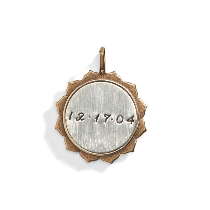 Solana Double Sided Personalized Medallion with Bronze Rim.