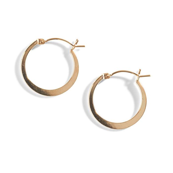 Liz Gold Filled Hoop Earrings.