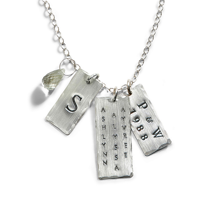 Super Model Name Tag Necklace in Sterling Silver.