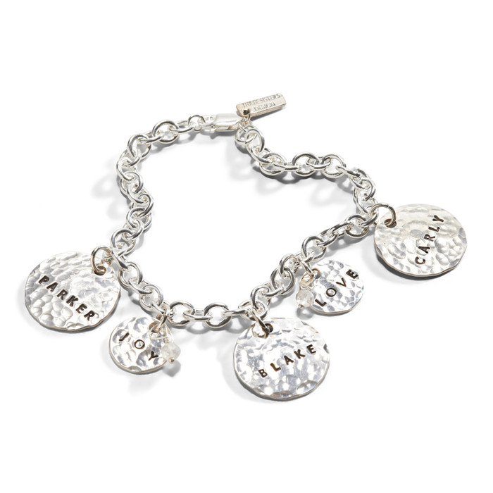 Circle Of Life Hand Stamped Charm Bracelet