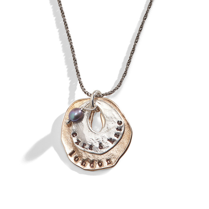Double Stacked Personalized Charm Necklace