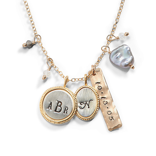 The Mom Baby Initial Necklace - Project Nursery