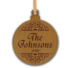 CLASSIC PERSONALIZED WOODEN ORNAMENT