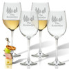 PERSONALIZED PINE TREES WINE STEMWARE - SET OF 4 (GLASS)