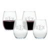 WINE STEMLESS TUMBLER - SET OF 4 (GLASS)-PERSONALIZED