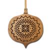 Personalized Alder Wood Ornament: Holiday Joy