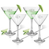 PERSONALIZED COCKTAIL - SET OF 4 (GLASS) ( Standard Carving Options )