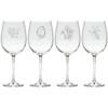 LEAVES WINE STEMWARE - SET OF 4 (GLASS)
