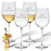 PERSONALIZED WINE STEMWARE NAME - SET OF 4 (GLASS)