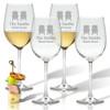 PERSONALIZED ADIRONDACK CHAIR WINE STEMWARE - SET OF 4 (GLASS)
