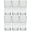 PERSONALIZED COOLER: SET OF 6 (GLASS): Sports Bar and Grill