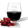 SINGLE Wine Tumbler - (GLASS) - I'M THE FAVORITE AUNT