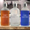 Personalized Glass Soap Dispenser - 8oz Boston Round (Standard Carving Options )
