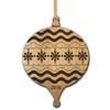 Personalized Alder Wood Ornament: Elegant Christmas