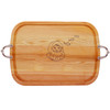 EVERYDAY COLLECTION: LARGE SERVING TRAY WITH NOUVEAU HANDLES SANTA HO! HO! HO!