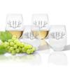 Tritan Stemless Wine Tumbler 15oz  (Set of 4) Antler Initial Motif