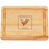 """Small Master Cutting Board 10"""" X 7.5"""" - Personalized Rooster"""