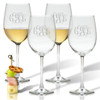 PERSONALIZED WINE STEMWARE MONOGRAM - SET OF 4 (GLASS)