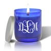 PERSONALIZED BLUE COLLECTION CANDLE: MONOGRAM