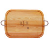 EVERYDAY COLLECTION: LARGE SERVING TRAY WITH NOUVEAU HANDLES ORNAMENT MONOGRAM