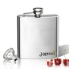 Stainless Steel Hip Flask (8 oz) Personalized to your desire.  Lower corner name.